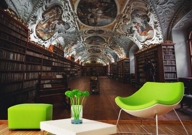 Woonkamer Met Bibliotheek : Bibliotheek in woonkamer moderne woonkamer met toets with