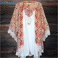 Прочный 2016 Моды Высокое Качество Женщин Печатных Шифоновый Платок Кимоно Кардиган Топы Cover Up Блузка