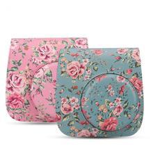 2 colors PU Protective Camera Case Bag with Shoulder Strap for Fuji Fujifilm Instax Mini 8/8+/9