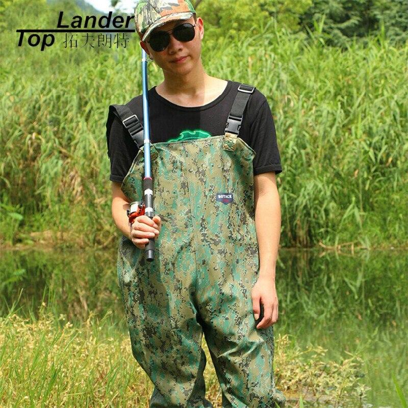 все цены на Waterproof Fishing Chest Waders Fishing waders Pants Waterproof Jump Suit Waders With Boots For Fishing Waterproof Trousers
