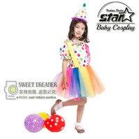 Dzieci Dziewczyny Rainbow Tutu Sukienka Dziecko Dzieci Tiulowe Tutu Sukienka Słodkie Piękne Dziewczyny Birthday Party Kostium Karnawał Etap Odzież