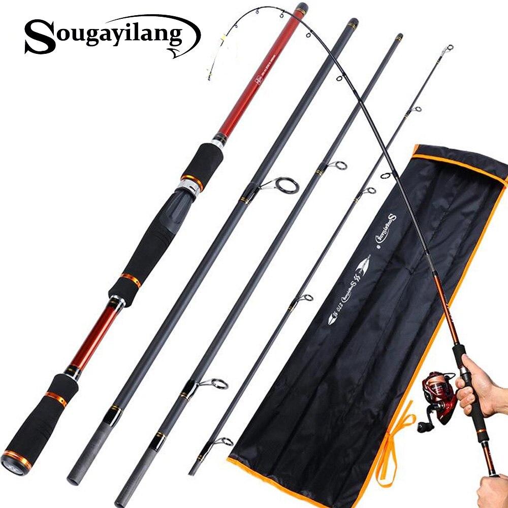 Sougayilang Lure Rod Carbon Spinning Fishing Rod For Carp Fish Casting Fishing Pole Vava De Pesca Saltwater Rod