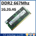 Venta 1 gb 2 gb 4 gb ddr2 667 mhz pc2-5300 sodimm portátil, memoria ram ddr2 2 gb 667 pc2 5300 notebook so-dimm, memoria ram ddr2 667 2 gb sdram