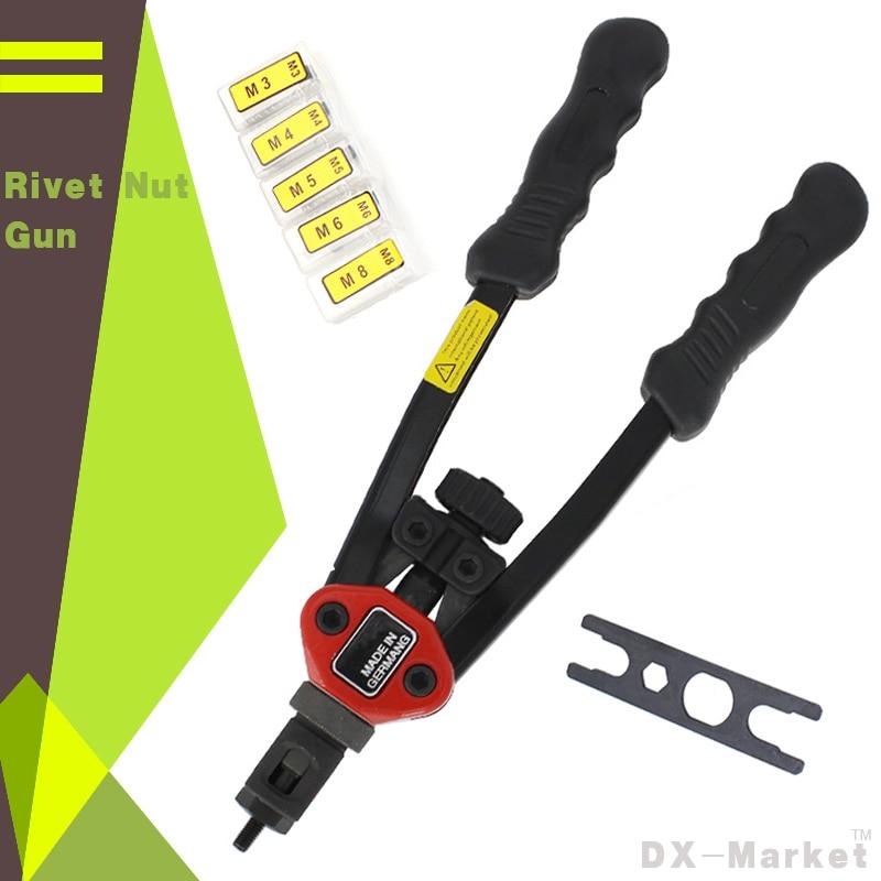 Hand Riveter Rivet Nut Gun , High Quality Riveting Tools With Nut Setting System M3 M4 M5 M6 M8
