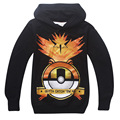 HOT 2016 Pokemon Go Boys Hoodies Pikachu Clothes Cartoon Children's Sweatshirts For Boys Kids Outwaer Tops Costume