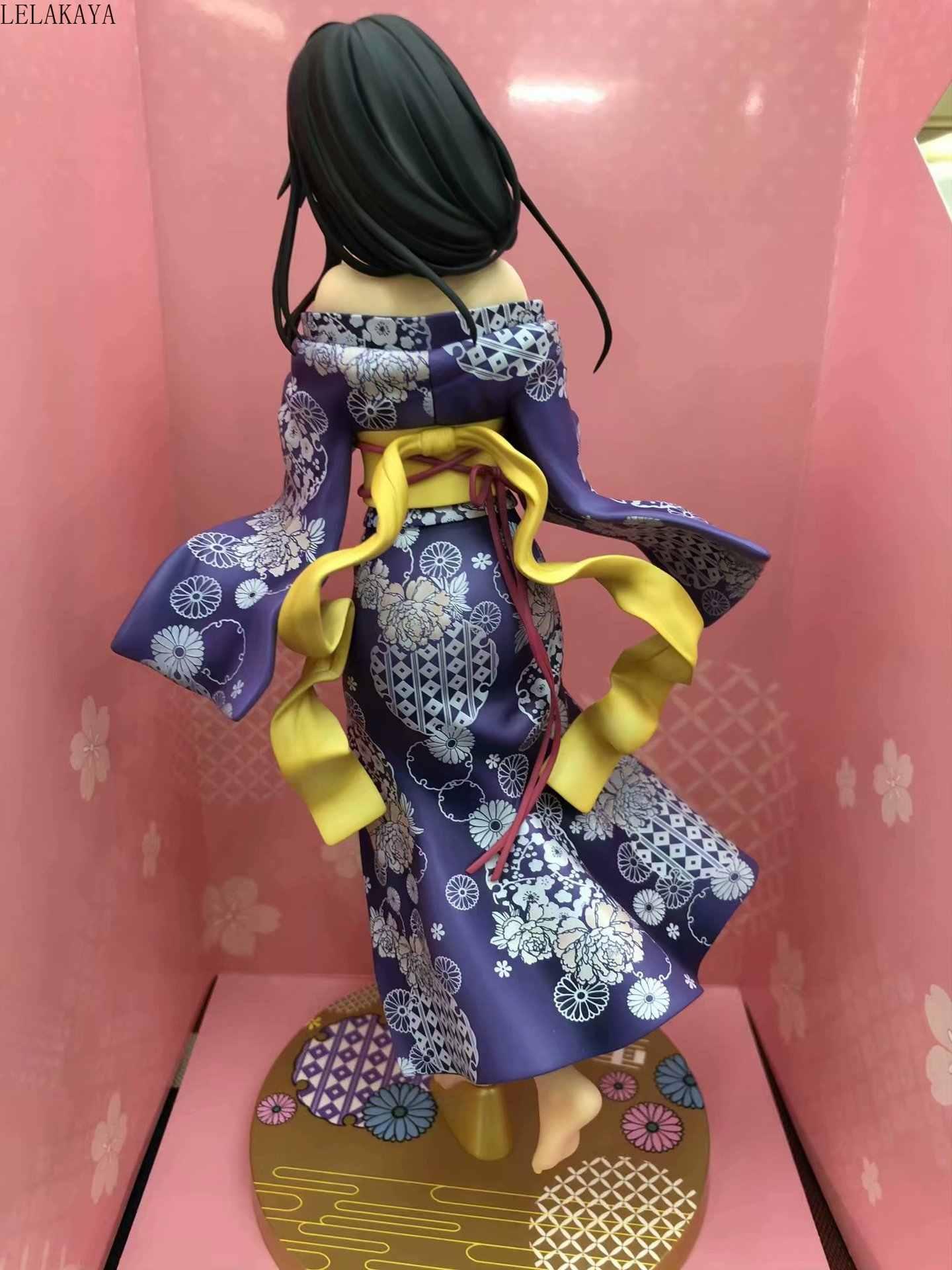 1 pcs anime skytube meu adolescente comédia romântica snafu yukinoshita yukino quimono roupão ver. 1/7 pvc figura de ação modelo boneca de brinquedo