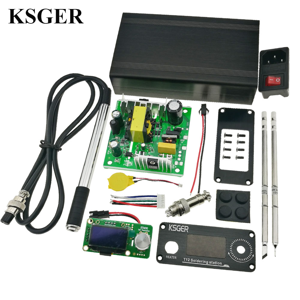 KSGER T12 Soldering Iron Station STM32 V2 1S OLED DIY Kits Solder Iron Tips Welding Tools