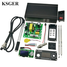 KSGER T12 납땜 인두 스테이션 STM32 V2.1S OLED DIY 키트 납땜 인두 팁 용접 공구 컨트롤러 FX9501 알루미늄 손잡이