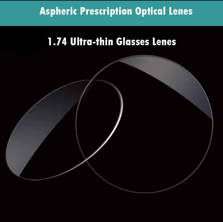 1.74 verres optiques à Vision unique verres de Prescription pour myopie/hyperopie/presbytie lunettes CR-39 lentille en résine avec revêtement