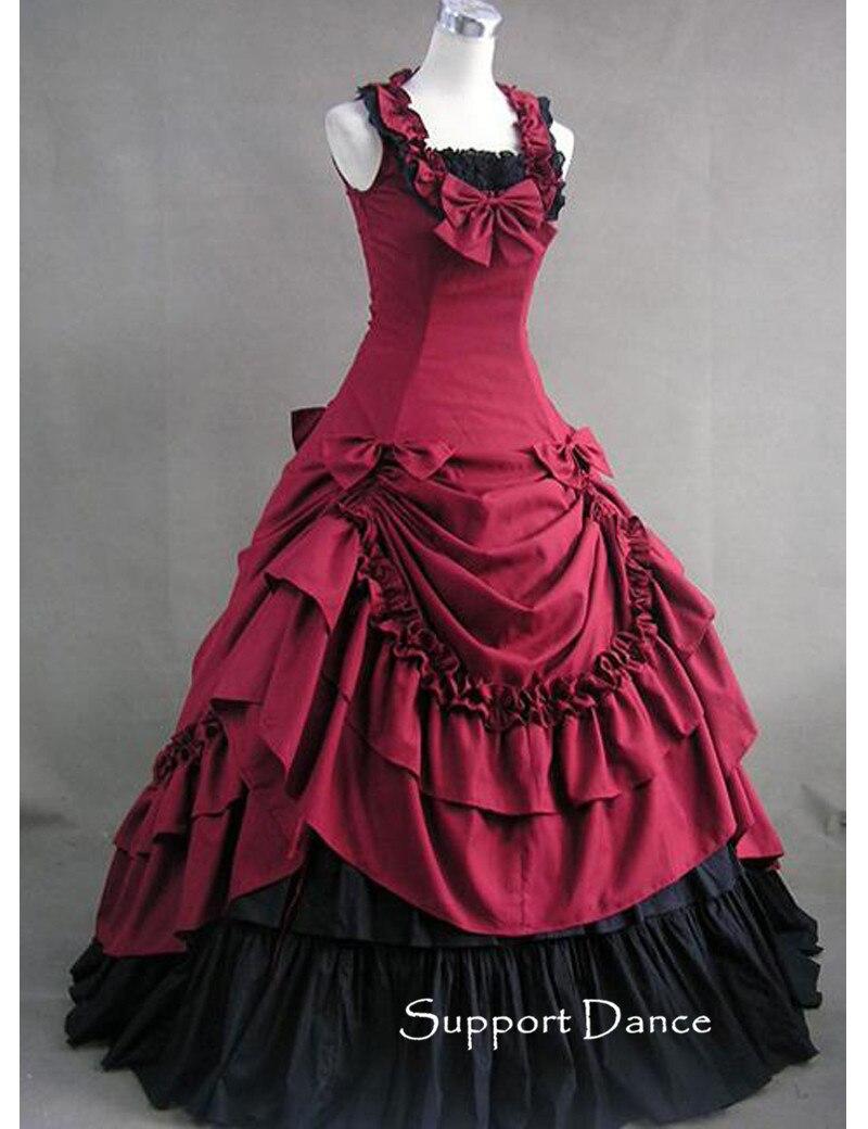 Robe Lolita longue à volants sur mesure L46