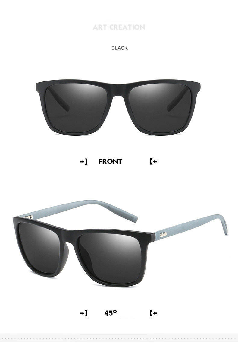 bb265caebb0 High Quality Square Polarized Sunglasses Men Brand Retro Coating ...