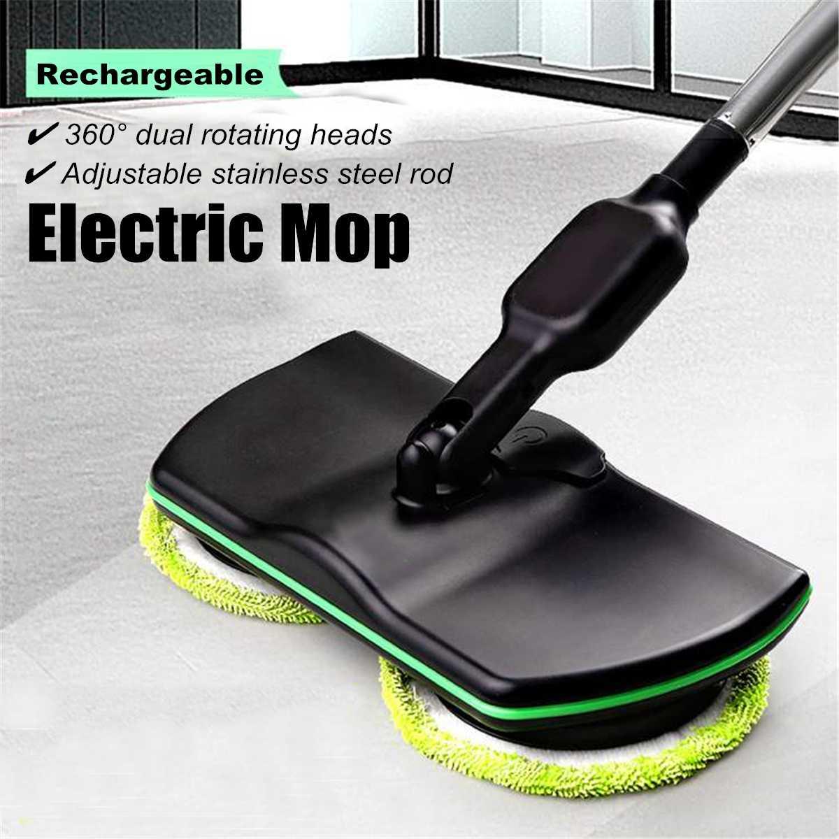 Rechargeable Floor Wiper Cordless Sweeping Handheld Wireless Electric Mop Floor Washer Wireless Rotating Electric Mop