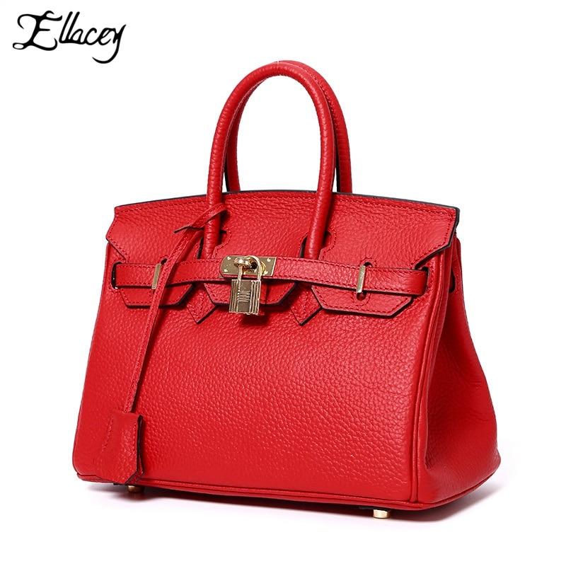 2017 Famous Brand Genuine Leather Tote Bag Fashion Women Handbags Lady Shoulder Female Bag Pattern Leather Platinum Killer Bag