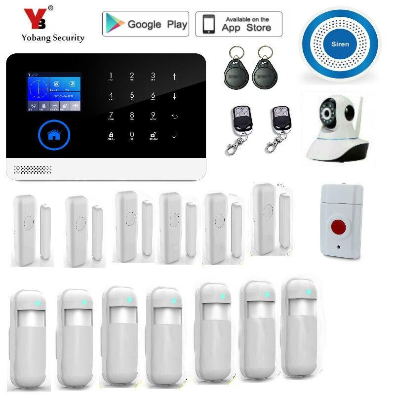 Yobang безопасности Беспроводной Главная GSM сигнализация, интеллектуальный APP gsm сигнализация, andriod/IOS GSM сигнализация/Главная охранной сигнали...