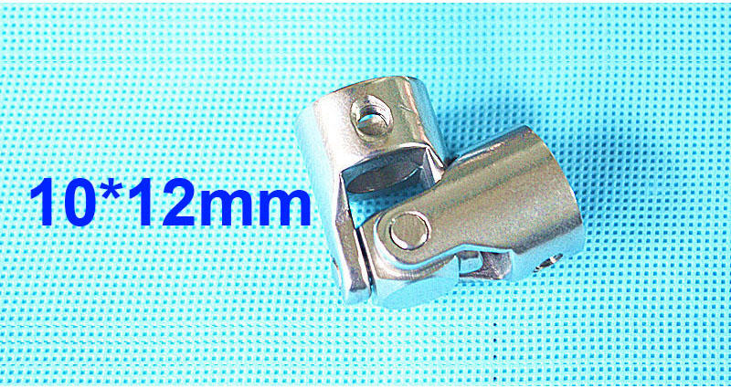 10mm x 12mm OD24mm L55mm single universal joints coupling Stainless steel connector crossing coupler RC Car Boat model wholesale rc car boat model universal coupler joint coupling steel shaft connector model diy motor shaft fitting accessory