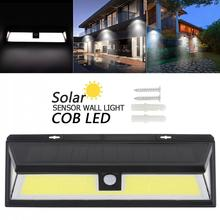 180 COB 1000LM Switch Three-sided Lighting ABS PIR Motion Sensor Solar Lamp 3 Mode Wall Light for Park Security Emergency Street
