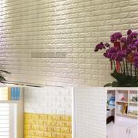 3D Brick Wall Sticker Self adhesive Panel Decal Embossed TV Living Room 100x50cm