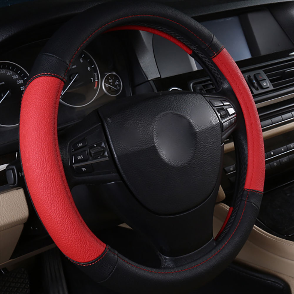 5 Colors Option Newest The Movement Style Steering Wheel Cover Microfiber Leather Skid-Proof Cover Perfect Decor For Your Car