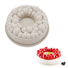 Silicone Cake Mold Cherry BUBBLE CROWN Shape Mold Chocolate Mousse Mould Baking Decorating Tools Bakeware Accessories cute 3d eastern bunny silicone rabbit shape cake chocolate desser mold mousse cake mould cupcake topper baking pastry decorating