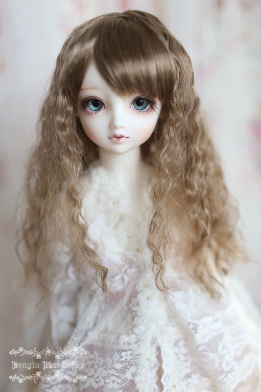 JD149 1/12 BJD wigs Middle Sauvage wig 4-5INCH Synthetic mohair wig Doll accessories 8 9 bjd wig silver knights of england volume mohair wig spot