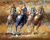 Frameless DIY Oil Painting By Numbers Kits Horse Racing Wall Decor Picture Painting On Canvas Handprinted