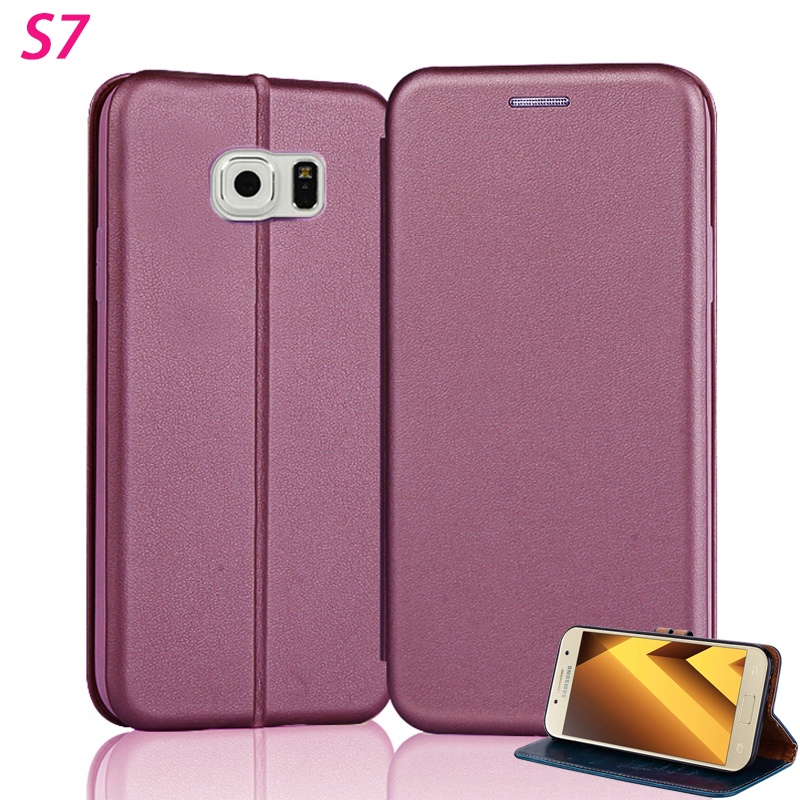 deab059786d Yonlintan Leather Magnetic Case For Samsung Galaxy S7 S 7 Flip 5.1 ...
