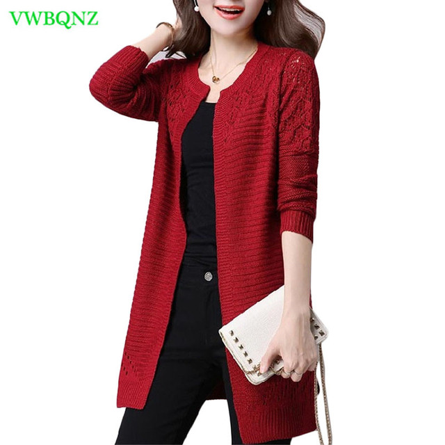 96a293cca8 Plus size Women s Autumn Winter Cardigan Sweater and Long Sections Wool  Sweaters Slim Tight Bottoming Knitted Cardigans 3XL A697