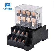 HH64P Relay 220V 24V 12V AC Coil High Quality General Purpose DP DT Micro Mini Relay Or Socket Base Holder 1PCS(China)