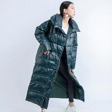 Duck Down Jacket Women Winter 2019 Outerwear Coats Female Long Casual Light ultra thick Warm puffer jacket Parka branded