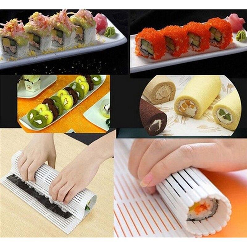 Market Sushi Rolling Roller Mat Preparation Tools Anti-Moisture Sushi Maker Food Grade PP Japan Design DIY Sushi Roller On Sale