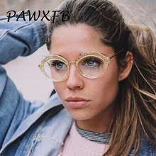 Pop Age 2018 New Sexy Ladies Cat Eye Glasses Frames Women Metal Optical Eyeglasses Fashion Clear Lens Spectacles Reading