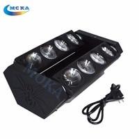 8pcs/lot 8x10w RGBW Led Beam Moving Head Spider Light DMX DJ Lighting Musical Instruments