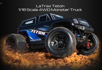 Traxxas latrax teton, 1/18 스케일 4wd 몬스터 트럭 rtr 76057-1 빠른 배송, 라디오 컨트롤 카