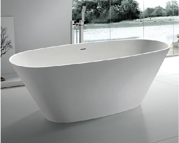 Vasca Da Bagno White : M vasca da bagno freestanding vasca in pietra artificiale