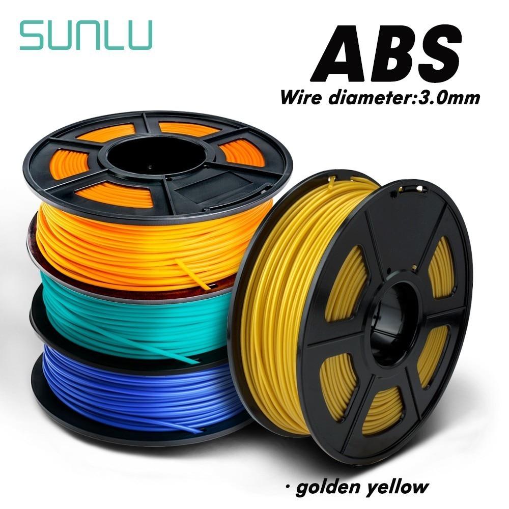 Filament d'imprimante 3D d'abs de SUNLU 3.00mm 1kg avec la bobine 100% aucun Filament 3D d'abs de 26 couleurs consommable de bulle pour le cercle industriel