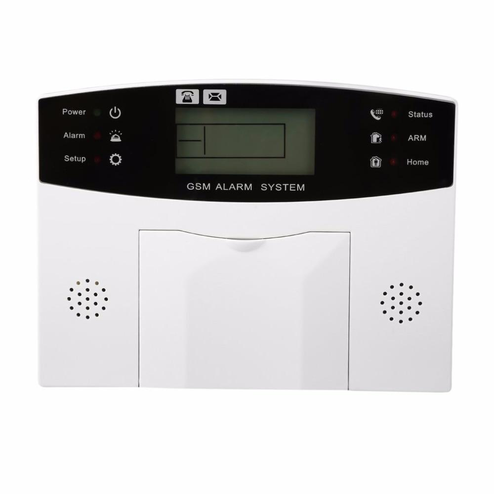 LESHP 433 MHz GSM alarm system Wireless Alarm Clock Digital System PIR Detector Door Sensor Remote Control Home Burglar Security golden security lpg detector wireless digital led display combustible gas detector for home alarm system