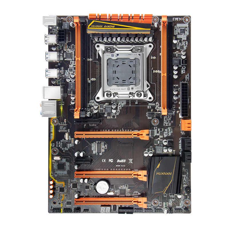 Giảm giá Bo mạch chủ lưng HUANAN TỬ cao cấp X79 bo mạch chủ với M.2 khe cắm CPU Intel Xeon E5 2670 C2 mát hơn với RAM 16G (2*8G)