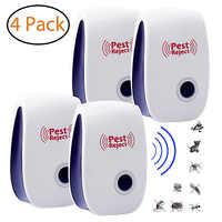 4 piezas de Mosquito asesino lámpara usada para Repelente espantapájaros ratón insecto asesino de la UE/US Plug Repelente de insectos anti Mosquito