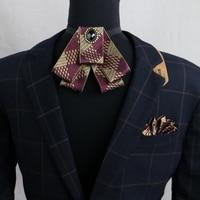 The Marriage Tie Pocket Towel Groom Groomsmen Dress Suit Male Bow Collar Pin Dual Purpose Pocket