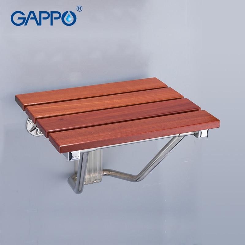Gappo Wall Mounted Shower Seats Bathroom Stool Chair Bathroom Shower Chair Childern Bath Shower Seat Bench Shrink-Proof Bathroom Fixtures