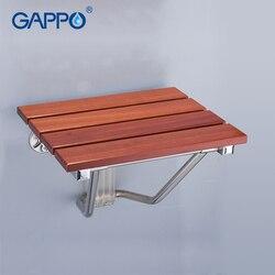 GAPPO ścienny prysznic do montażu siedziska składana ławka dla dzieci toaleta składane krzesła prysznicowe wanna stołek prysznicowy krzesło do wanny Cadeira