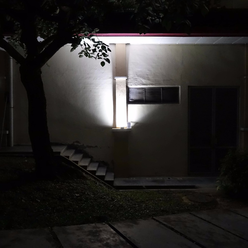 Image 2 - Alpha 600X 100 LED 100 750lm 3 Power Modes Solar Powered Outdoor Flood Light Solar LED Lamp for Garden-in Solar Lamps from Lights & Lighting