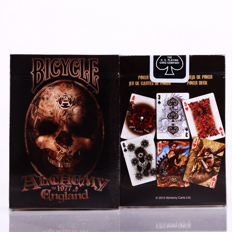 1pcs Bicycle Alchemy Ll Gothic England Deck Magic Cards Playing Card Poker Close Up Stage Magic