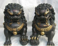 Excellent Chinese Bronze Lion Statue by EMS 100% free shipping