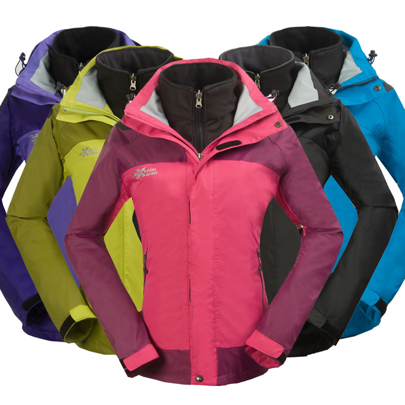 3 in 1 Jacket Womens Winter Sports Coats Ladies Windbreaker ...