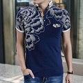 ГОРЯЧАЯ Продажа высокого качества мужская мода хлопок европейский стандартный размер печати поло рубашки Поло плюс размер