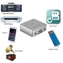 Музыкальный дигитайзер, аналоговый аудио в цифровой рекордер, запись аналоговой музыки в цифровой на usb флэш-диск или sd-карту, не требуется ПК