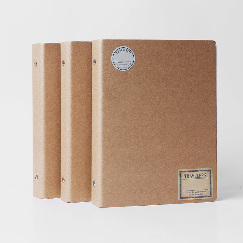 Japanese Simple Style 2017 2018 New Vintage Kraft Blank Spiral Binder Notebook Office School Supplies A5 A6 Matching Filofax 200 sheets 2 boxes 2 sets vintage kraft paper cards notes filofax memo pads office supplies school office stationery papelaria