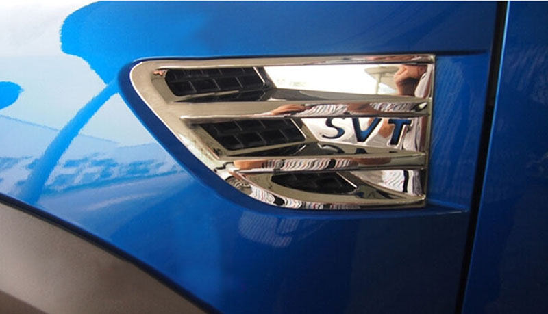 SVT Styling Letter Chrome Triple Trunk Fuel Gas Cover Plated Trim for Ford F-150 F150 Raptor 2009-2014