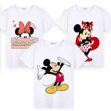 Mickey Minnie Summer Children Short Sleeve T Shirts Boys Girls Cartoon Printing T-shirt Tee Shirt Baby Girls Tops Kids Clothing kids fashion summer baby milo t shirt children cotton tee shirts cute cartoon summer sotton short sleeve t shirt for boys girls
